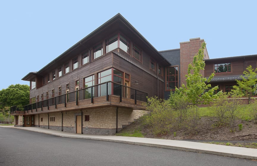 Weld Hill Research Building at the Arnold Arboretum of Harvard University and the home of the Hopkins Lab